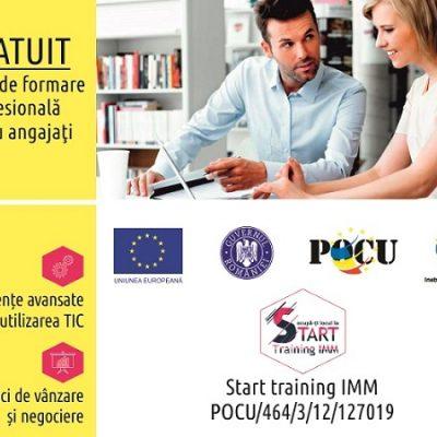 Ocupă-ți locul la START!  START Training IMM – un proiect creat pentru dezvoltarea companiei tale. COMUNICAT