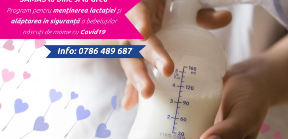 """""""SAMAS la bine și la greu"""" ajută mamele cu COVID-19,  cu sprijinul Active Citizens Fund România"""