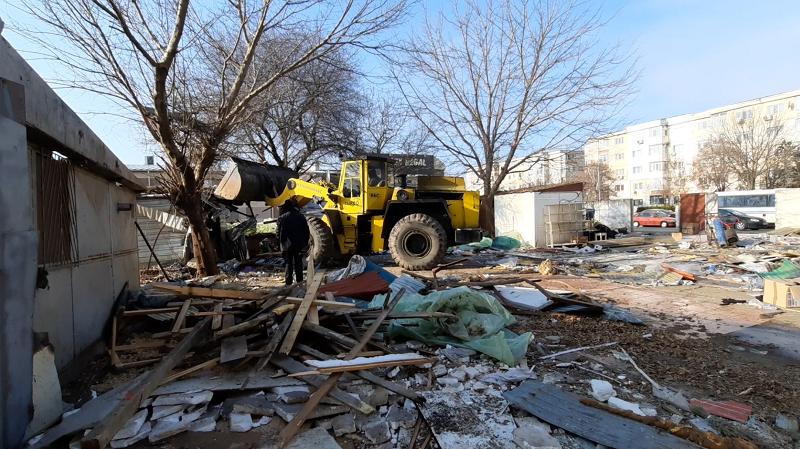 Călărași/Primarul Dulce își onorează un angajament: A început reconstruirea Pieței Bazar. VIDEO