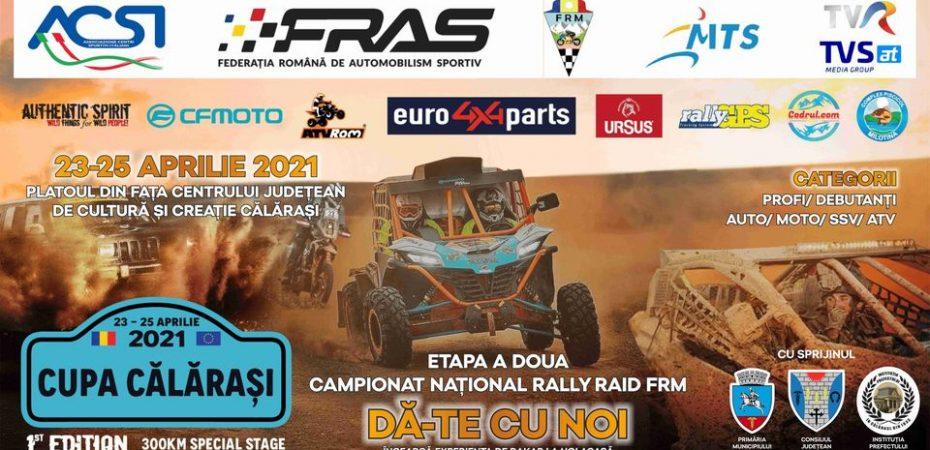 CJ., Prefectura și Primăria Călărași organizează Raly Raid, o competiție a  Federaţiei Române de Automobilism Sportiv